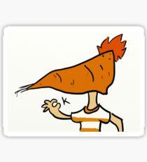OK Carrot Head Phineas Sticker