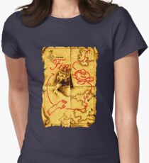 Golden Axe Map Womens Fitted T-Shirt