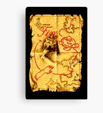 Golden Axe Map Canvas Print