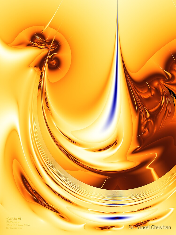 Gold Drop 01 by Dr. Vinod Chauhan