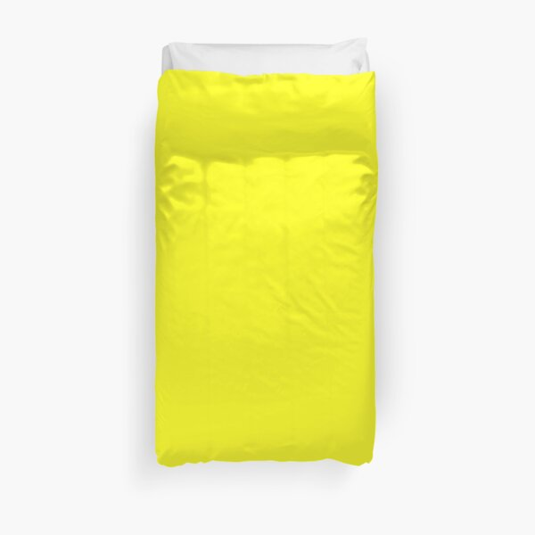 Canary Yellow Solid Color Decor Duvet Cover