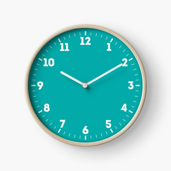 Turquoise Solid Color Decor Clock