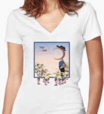Indy-Man Yes-We-Can T-Shirt Creation Women's Fitted V-Neck T-Shirt