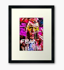 fear and loathing trippy print Framed Print