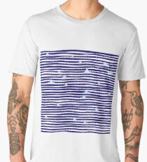 Origami boat on the sea Men's Premium T-Shirt