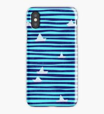 Origami boat on the sea iPhone Case/Skin