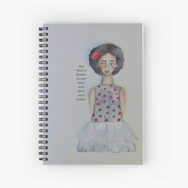 She Wore A Flower In Her Hair Spiral Notebook
