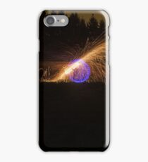 Christmas Eve LightPainting iPhone Case/Skin