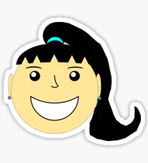 Girl Smiling 1 Sticker