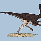 Ornithomimus by Richard Fay