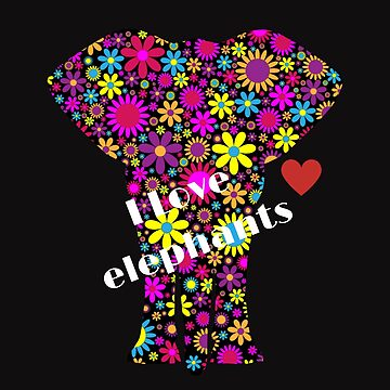 I love elephants by mabrouka