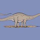 Apatosaurus by Richard Fay