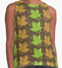 Maple leaves spring  & autumn Contrast Tank