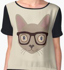 Mr. Smart Cat Chiffon Top