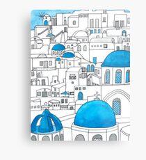 Santorini Blue and White Paradise Metal Print