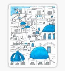 Santorini Blue and White Paradise Sticker