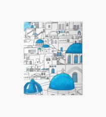 Santorini Blue and White Paradise Art Board