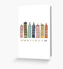 Amsterdam canal houses . Greeting Card