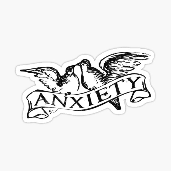 Anxiety Doves Sticker