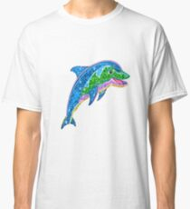 Dauphin paillette Classic T-Shirt