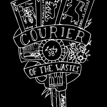 courier flash // white on black version by thehellagatsby