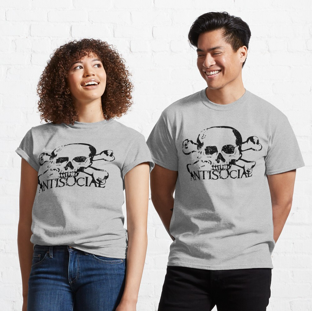 Antisocial Skull Classic T-Shirt