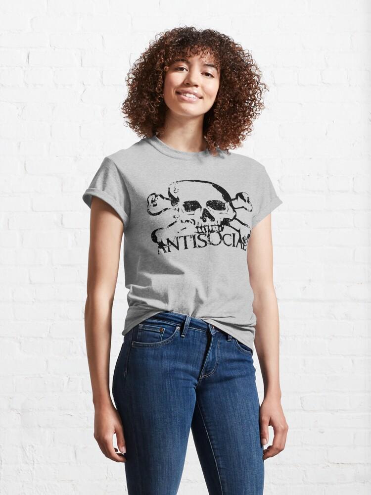 Alternate view of Antisocial Skull Classic T-Shirt