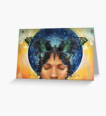 Butterfly Kisses/Child of Diasporas Greeting Card