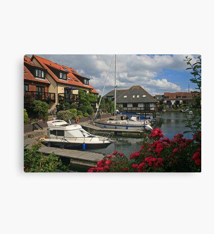 Hythe Marina Canvas Print