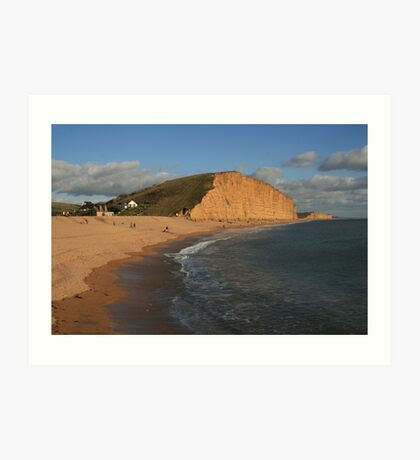 East Cliff, West Bay Art Print