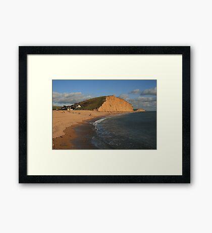 East Cliff, West Bay Framed Print
