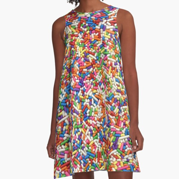 Rainbow Sprinkles A-Line Dress