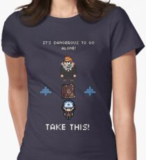 Gravity Falls - It's Dangerous To Go Alone Womens Fitted T-Shirt