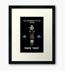 Gravity Falls - It's Dangerous To Go Alone Framed Print