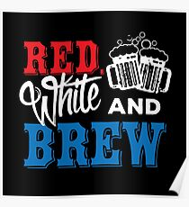 Red, White & Brew Poster