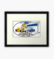 Landsat 8 - Data Continuity Mission Logo Framed Print