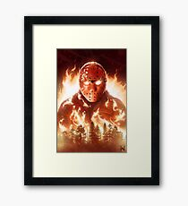 Jason In Flames Framed Print