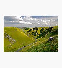 Winnats Pass near Castleton Photographic Print