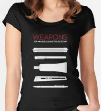 Weapons of mass CONSTRUCTION Women's Fitted Scoop T-Shirt