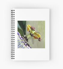 Hoverfly on a Passionflower Spiral Notebook