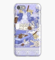 Purple Bunny Table Setting iPhone Case/Skin