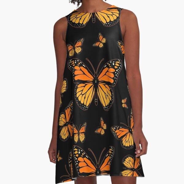 Monarch Butterfly Rapsody A-Line Dress
