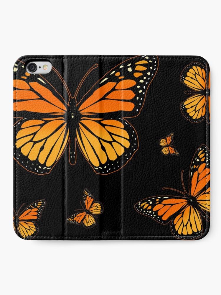 Alternate view of Monarch Butterfly Rapsody iPhone Wallet