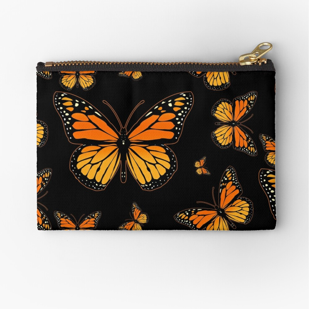 Monarch Butterfly Rapsody Zipper Pouch