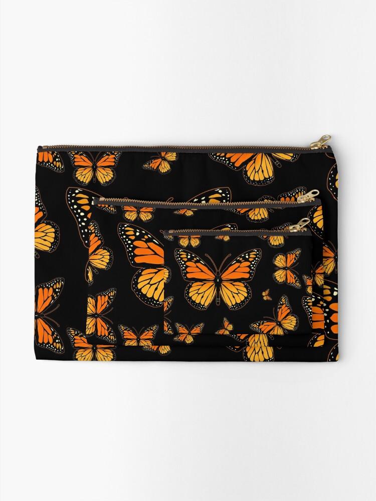 Alternate view of Monarch Butterfly Rapsody Zipper Pouch