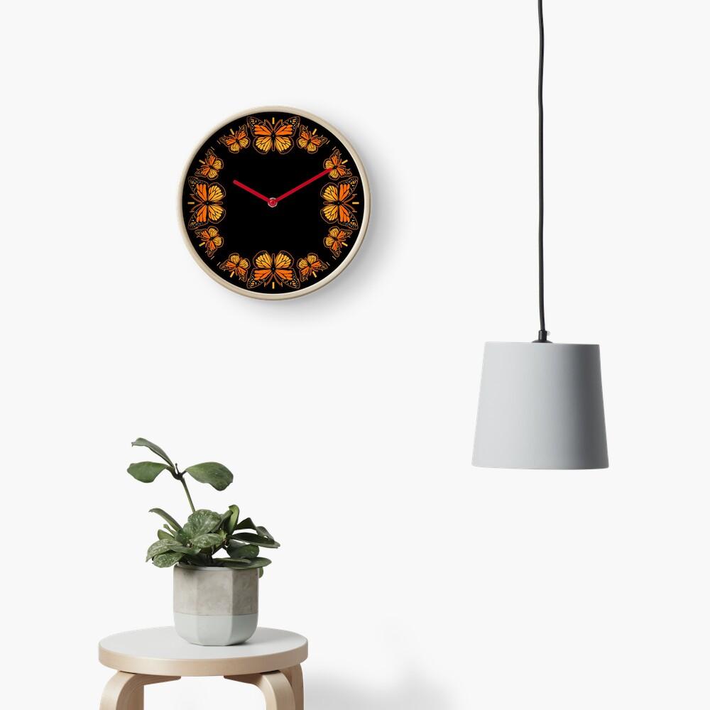 Monarch Butterfly Rapsody Clock