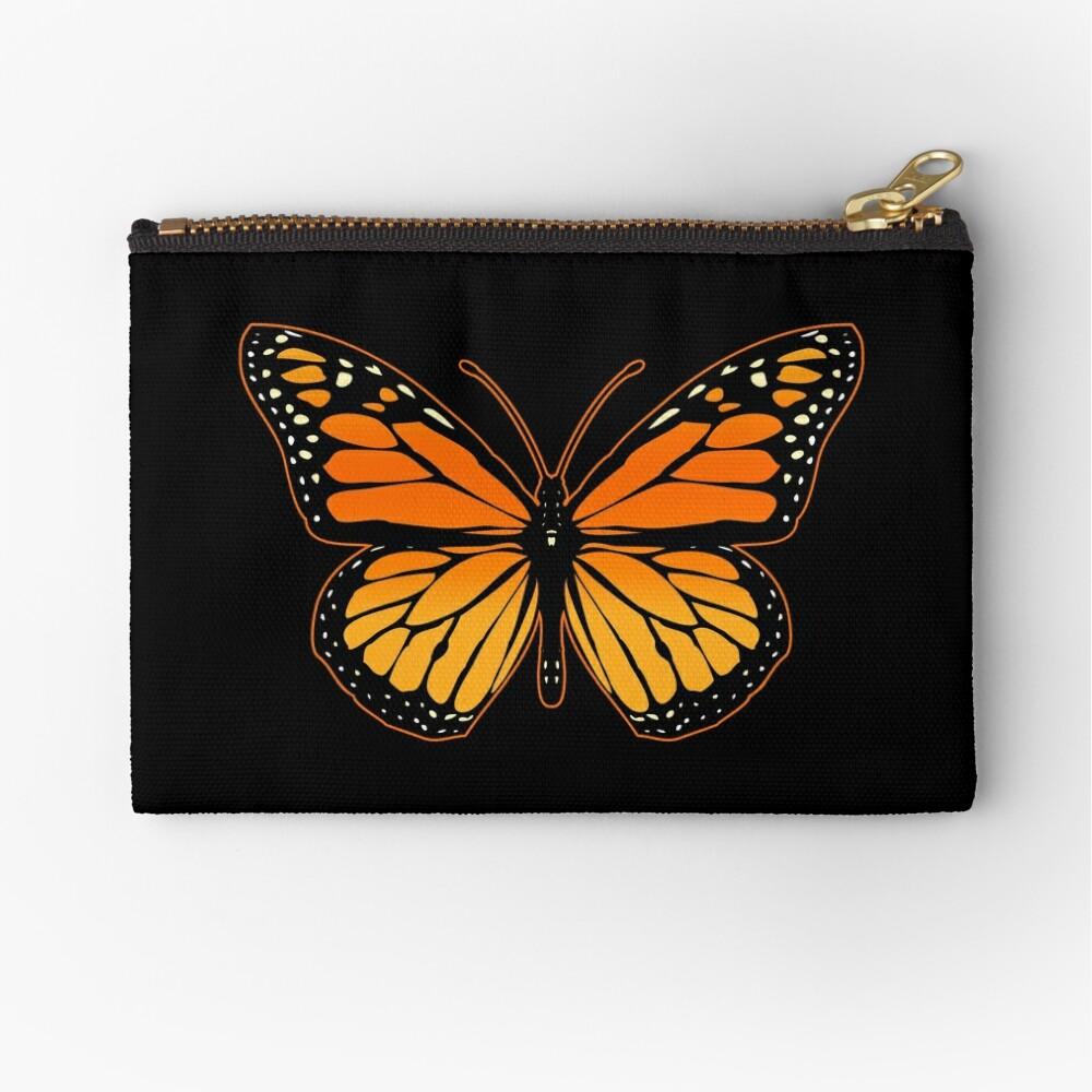 Monarch Butterfly Zipper Pouch