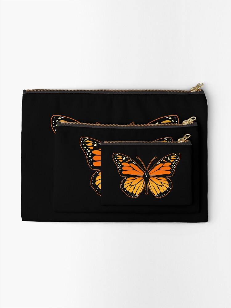 Alternate view of Monarch Butterfly Zipper Pouch