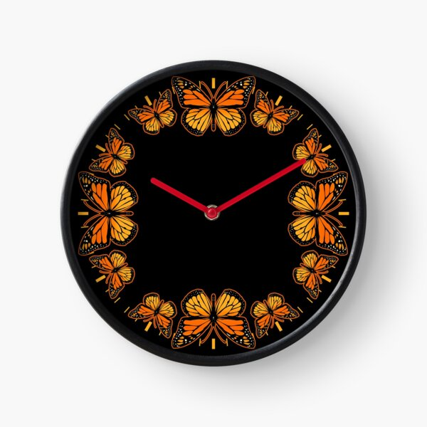 Monarch Butterfly Clock