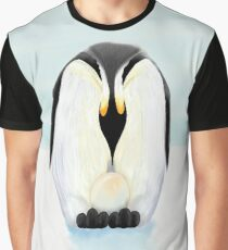 Penguin Dad and His Egg Graphic T-Shirt